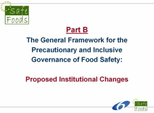 Part B: Proposed Institutional Changes